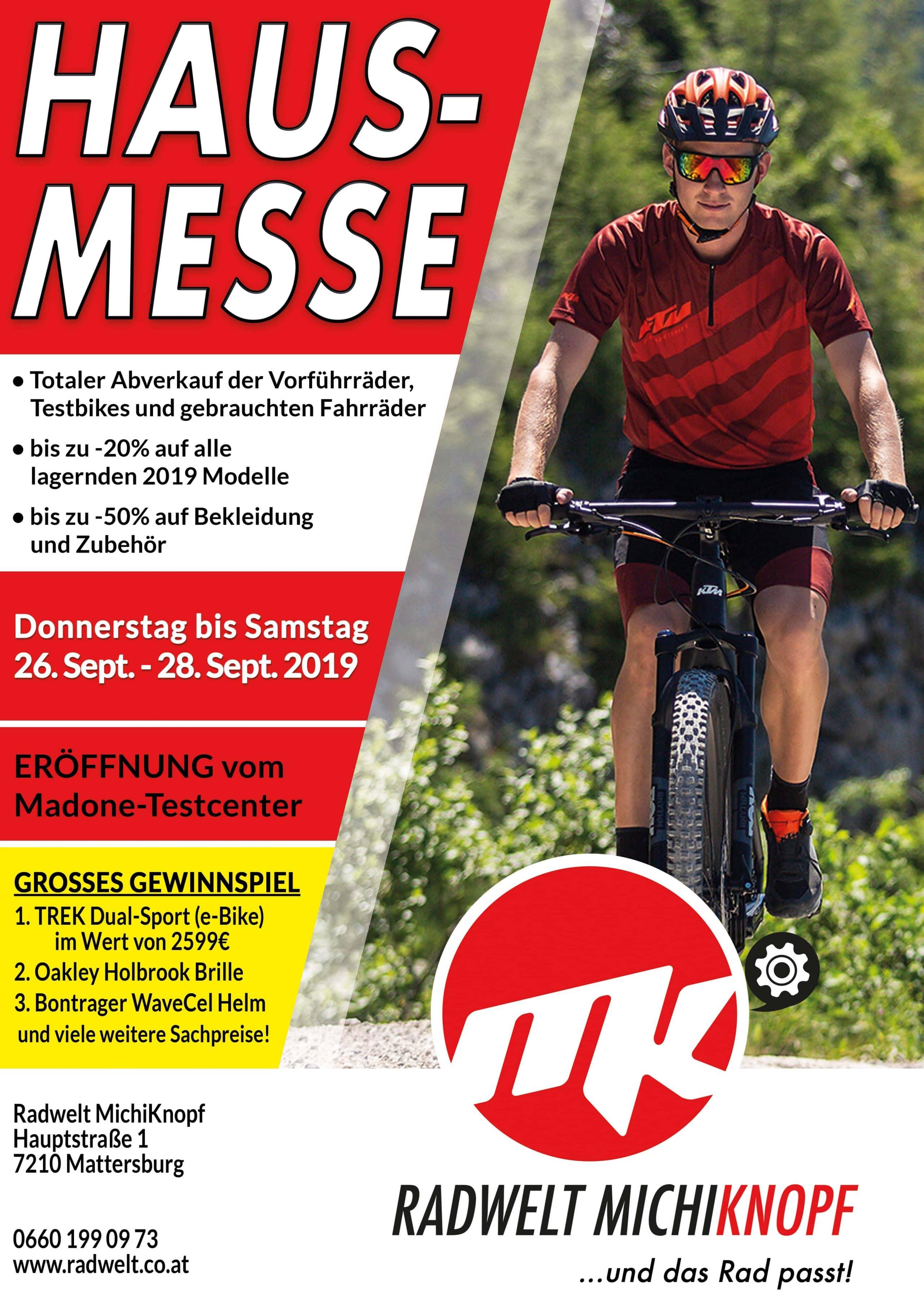 Hausmesse 2019 Radwelt MichiKnopf